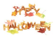 Szczęśliwy Halloweenowy skład odizolowywający zdjęcia royalty free