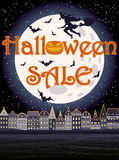 Szczęśliwy Halloweenowy sprzedaży powitania tło Fotografia Royalty Free