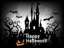 Szczęśliwy Halloweenowy tło wektor Zdjęcia Royalty Free