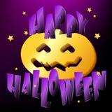 Szczęśliwy Halloweenowy tło z banią Fotografia Royalty Free