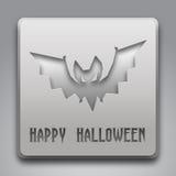 Szczęśliwy Halloweenowy tekst z nietoperza symbolem Zdjęcia Royalty Free