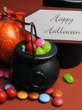 Szczęśliwy Halloweenowy Trikowy lub funda. Zakończenie up. Fotografia Royalty Free