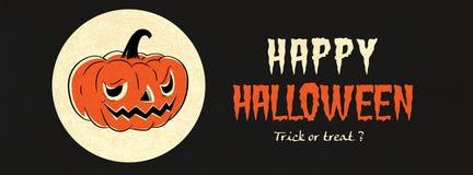 Szczęśliwy Halloweenowy Wektorowy sztandar Zdjęcia Royalty Free