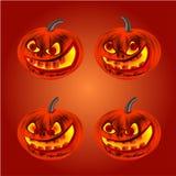 Szczęśliwy Halloweenowy wesoło dyniowy wektor Obraz Royalty Free