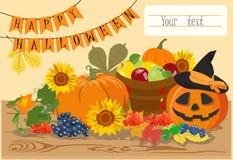 Szczęśliwy Halloweenowy wiadomość projekta tło również zwrócić corel ilustracji wektora Zdjęcia Stock