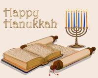 Szczęśliwy Hanukkah festiwalu świętowania tło Obraz Royalty Free