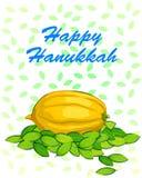 Szczęśliwy Hanukkah festiwalu świętowania tło Fotografia Royalty Free