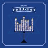Szczęśliwy Hanukkah kartka z pozdrowieniami projekt również zwrócić corel ilustracji wektora Zdjęcia Royalty Free