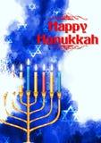 Szczęśliwy Hanukkah, Żydowski wakacyjny tło Zdjęcie Stock