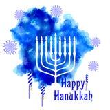 Szczęśliwy Hanukkah, Żydowski wakacyjny tło Obraz Stock
