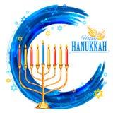 Szczęśliwy Hanukkah, Żydowski wakacyjny tło ilustracja wektor