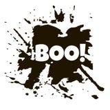 Szczęśliwy Helloween grunge tło Czarny punkt i kleksy na whi Obrazy Stock
