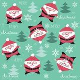 Szczęśliwy i śmieszny Święty Mikołaj wzór Zdjęcia Stock