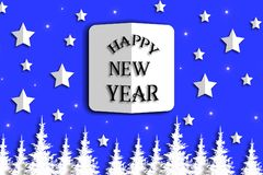 szczęśliwy ilustracyjny nowy rok ilustracja wektor