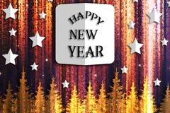 szczęśliwy ilustracyjny nowy rok royalty ilustracja