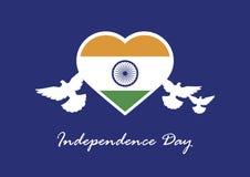 Szczęśliwy India dnia niepodległości wektor Obrazy Royalty Free