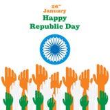 Szczęśliwy indyjski republika dzień royalty ilustracja