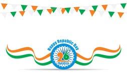Szczęśliwy indyjski republika dzień ilustracji