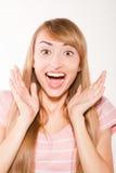 Szczęśliwy ja target14_0_ kobiety obrazy stock