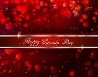 Szczęśliwy Kanada dnia tło Zdjęcia Royalty Free