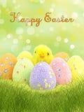 szczęśliwy karciany Easter Obrazy Stock