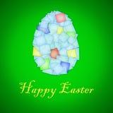 szczęśliwy karciany Easter Zdjęcia Stock