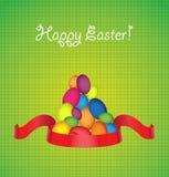 szczęśliwy karciany Easter Obrazy Royalty Free