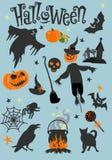 szczęśliwy karciany Halloween Straszny wakacyjny plakat również zwrócić corel ilustracji wektora ilustracja wektor