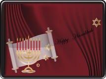 szczęśliwy karciany Hanukkah Obrazy Stock