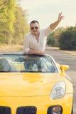Szczęśliwy kierowca fotografia royalty free