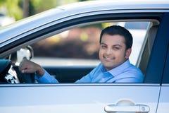 szczęśliwy kierowcy fotografia stock