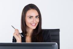 Szczęśliwy kobieta konsultant fotografia royalty free