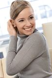 Szczęśliwy kobieta portret Obrazy Royalty Free