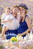 Szczęśliwy kobieta w ciąży z rodziną Zdjęcia Stock