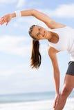 Szczęśliwy kobiety ćwiczyć Zdjęcia Royalty Free