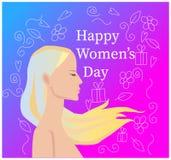 Szczęśliwy kobiety ` s dzień royalty ilustracja