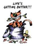 szczęśliwy kot ilustracja wektor
