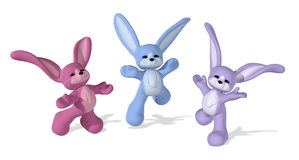 szczęśliwy królików tańczyć ilustracja wektor