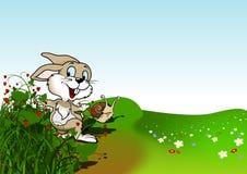 Szczęśliwy królik Zdjęcia Royalty Free