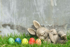 Szczęśliwy królik Easter Obrazy Royalty Free