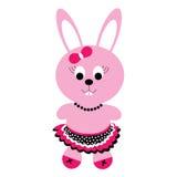 Szczęśliwy królik w spódnicie Obrazy Royalty Free