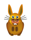 szczęśliwy królika wektor Obrazy Royalty Free