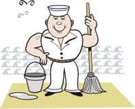 szczęśliwy kreskówka żeglarz Obraz Royalty Free
