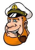 Szczęśliwy kreskówka żeglarza lub kapitanu charakter Obrazy Royalty Free