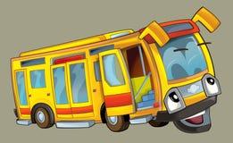 Szczęśliwy kreskówka autobus Zdjęcie Stock