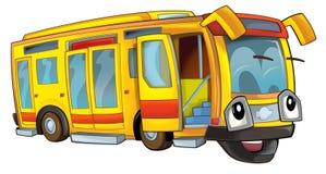 Szczęśliwy kreskówka autobus Zdjęcia Stock