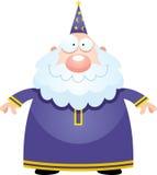 Szczęśliwy kreskówka czarownik royalty ilustracja