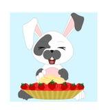 Szczęśliwy kreskówka królik ilustracja wektor