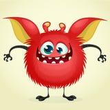 Szczęśliwy kreskówka potwór Zdjęcia Royalty Free