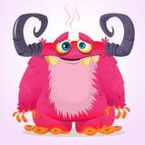 Szczęśliwy kreskówka potwór Wektorowy charakter Zdjęcie Stock